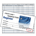 Credit Card Register - Slim Size (10-Pack)