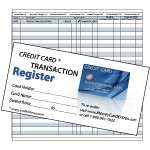 Credit Card Register - Standard Size