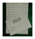Debit Card Register - Wallet Size