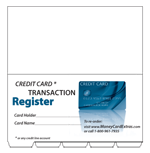 Tab Dividers for Multiple Credit Card Register Booklets
