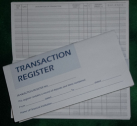 Check/Debit Card Register - Standard Size